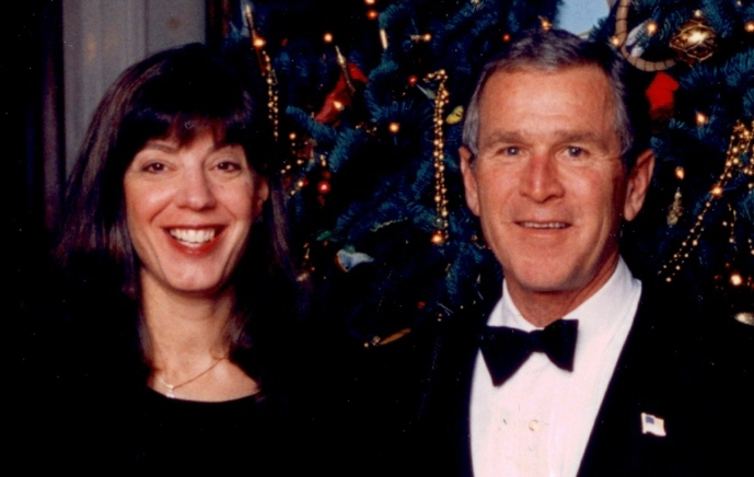 Mizrahi at the White House with President Bush